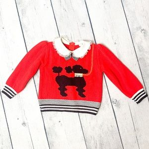Vintage Red Black And White Knitted Shirt